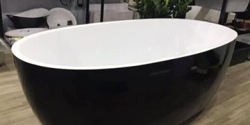 Mẫu bồn tắm màu đen Đẹp   Sang Trọng